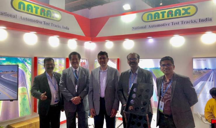 Visit of President, SAEINDIA –  NATRAX Stall at Auto Expo